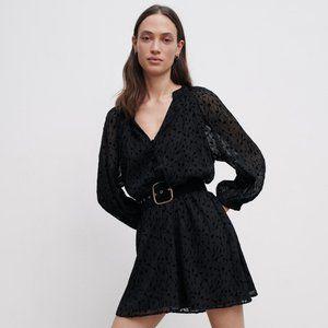 🔥MOVING SALE🔥NEW ZARA Velvet Mini Dress S Black